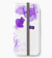 purple abstract watercolor Vinilo o funda para iPhone