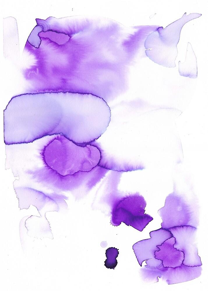 «purple abstract watercolor» de konsulandia