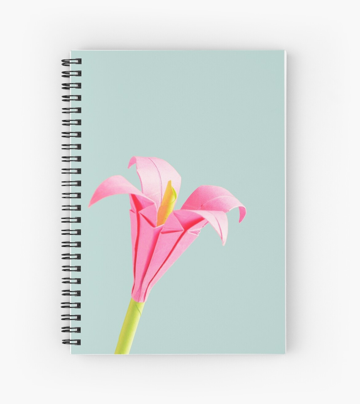 Pink Paper Flower Origami Spiral Notebooks By Jcameron2 Redbubble