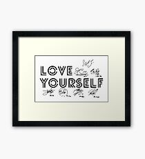 BTS - Love Yourself #Signed Framed Print