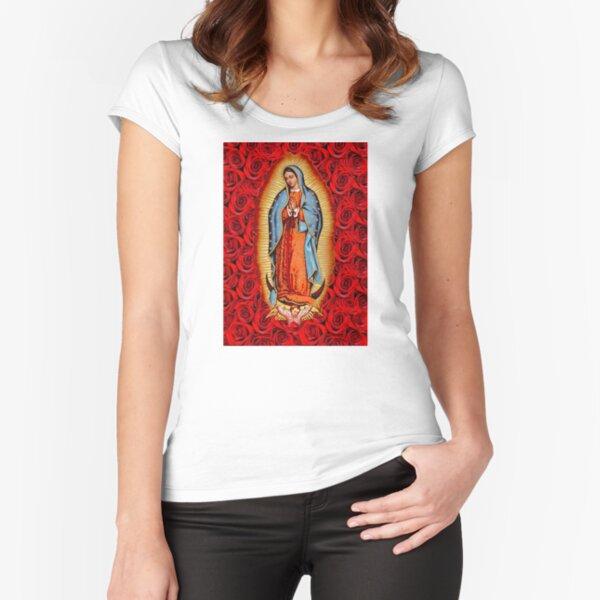 VIRGEN DE GUADALUPE Fitted Scoop T-Shirt