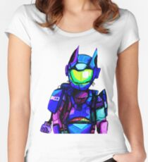 Cat Man  Women's Fitted Scoop T-Shirt