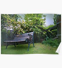 Banksia Rose Bench Poster