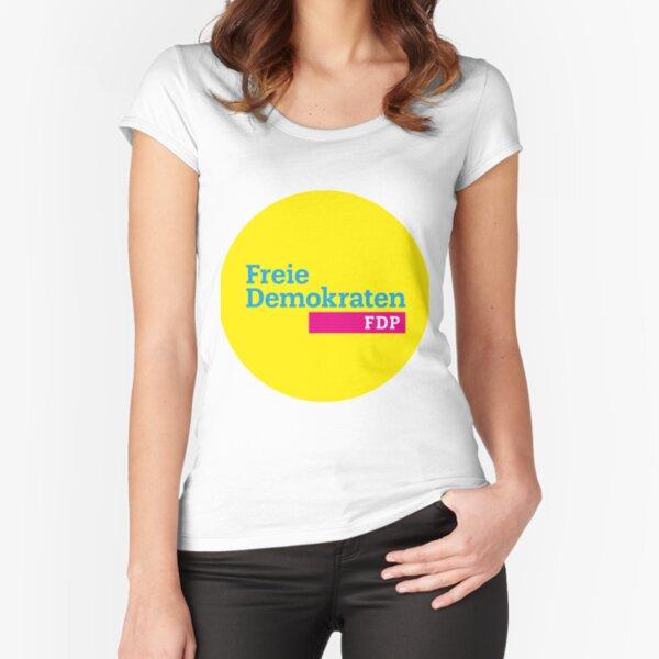 Freies demokratisches Partei-Logo Tailliertes Rundhals-Shirt