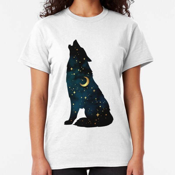 Wild Wolf Mens PRINTED T-SHIRT Animal Howl Howling Moon Landscape Outdoors
