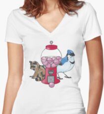 Regular Friends Women's Fitted V-Neck T-Shirt