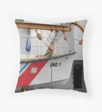 lifeboat at rest Throw Pillow