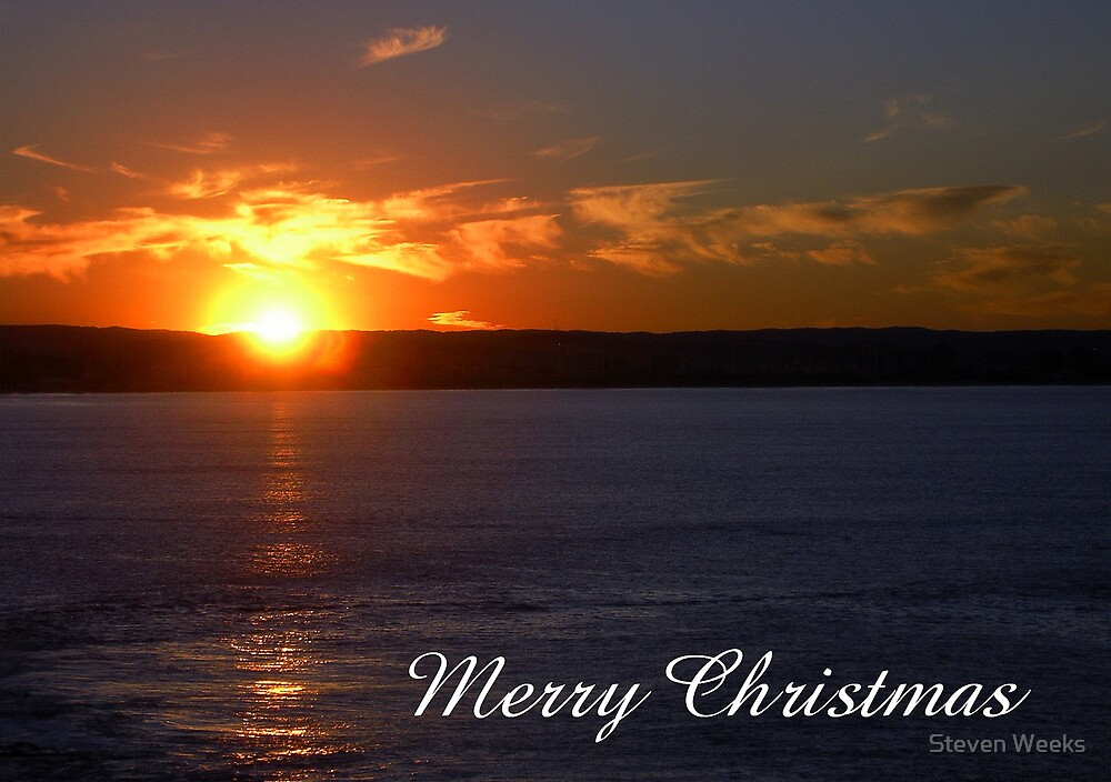 Sunset, Merry Christmas by Steven Weeks