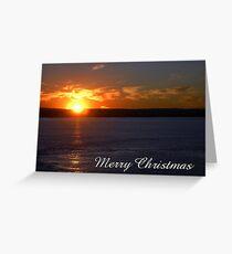 Sunset, Merry Christmas Greeting Card