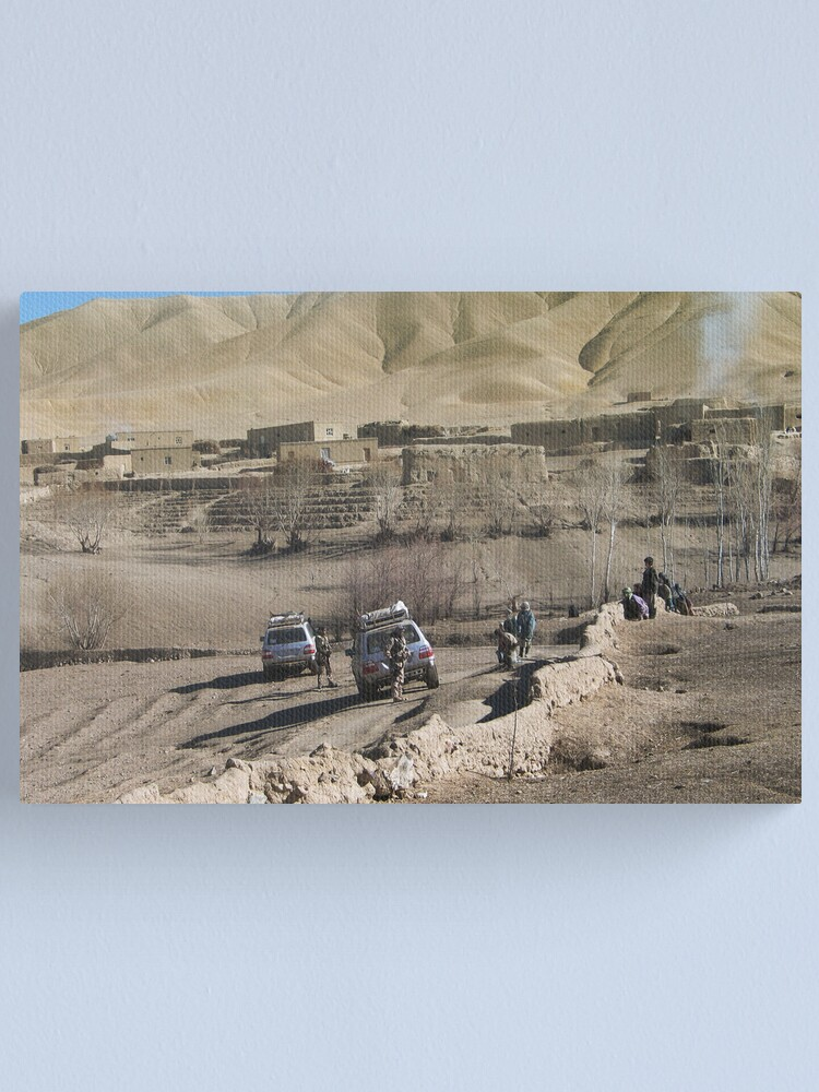 Alternate view of child and soldiers Canvas Print