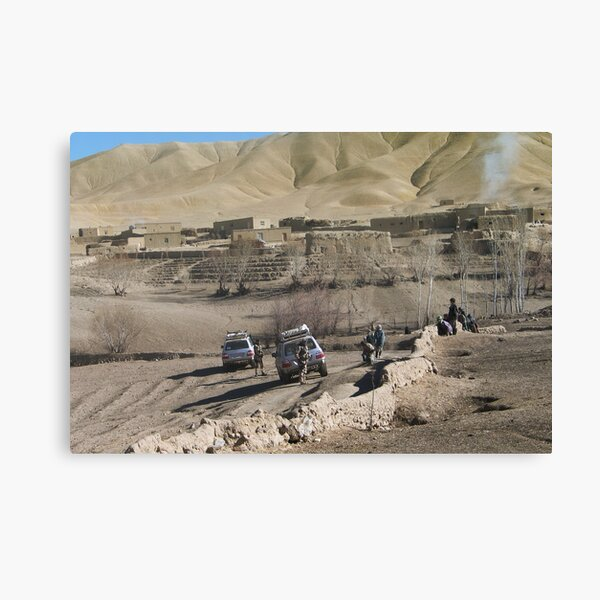 child and soldiers Canvas Print