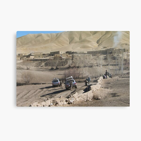 child and soldiers Metal Print