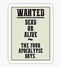 Gunmen of the Apocalypse Sticker