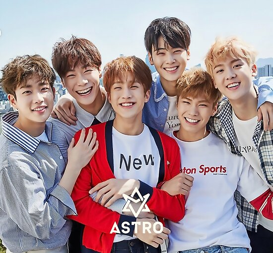 """""""astro band kpop"""" Poster by desrosiers   Redbubble"""