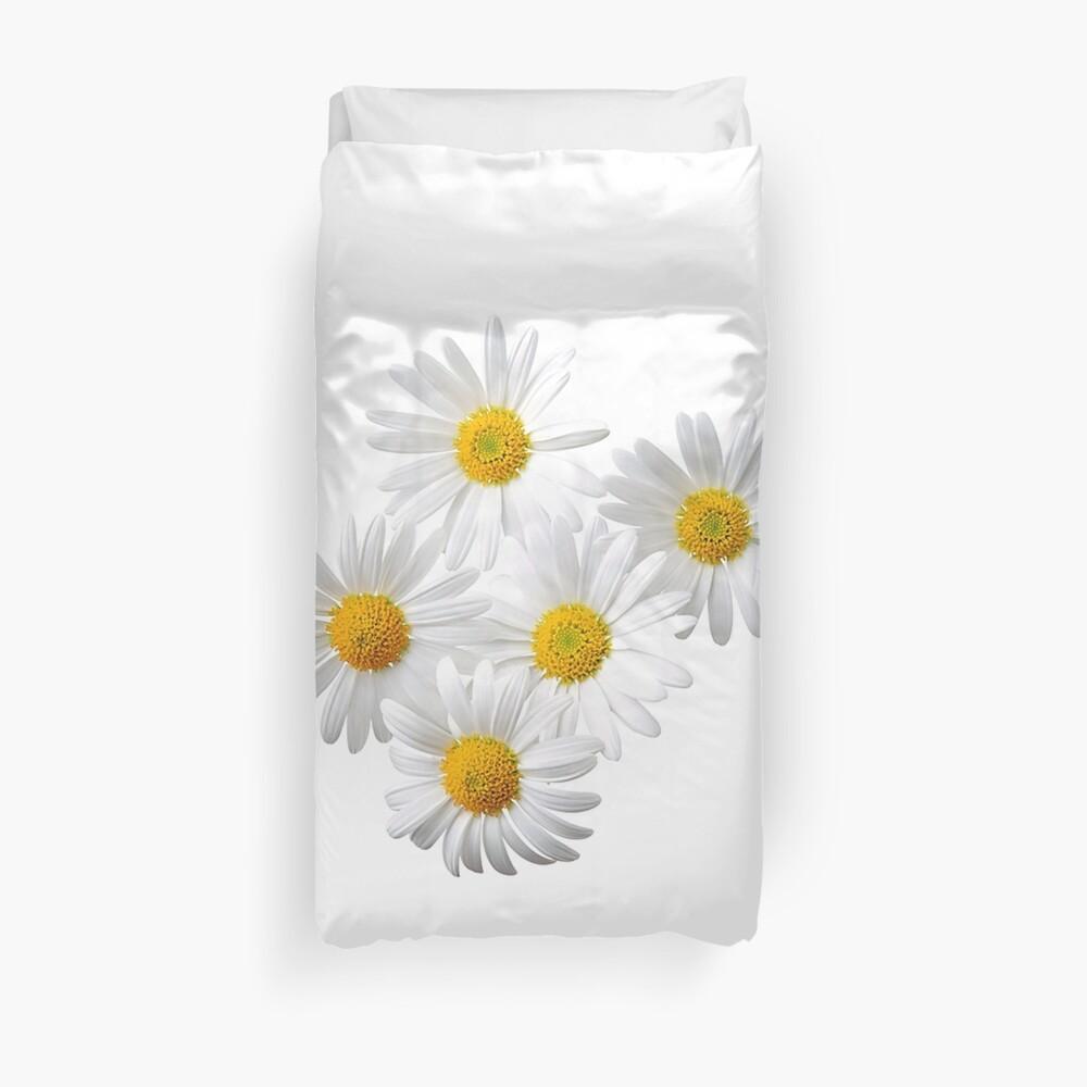 Daisy Pic - Cute Flowers Print Picture Daisy T-Shirt Sticker Pillow Bettbezug
