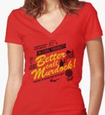 Better Call Murdock! Women's Fitted V-Neck T-Shirt