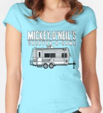 Mickey O'Neils Caravan-a-Rama Tailliertes Rundhals-Shirt