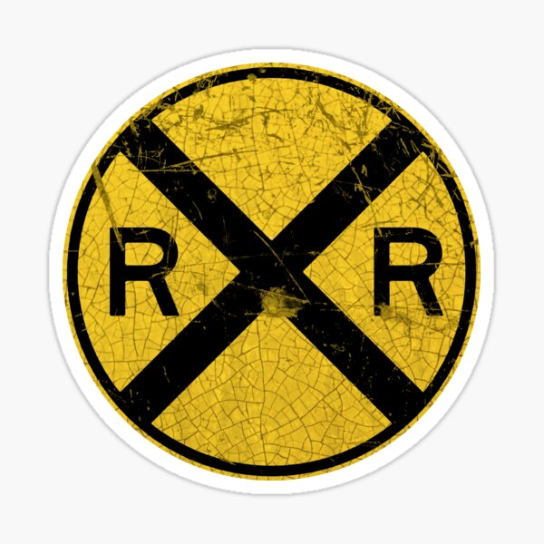 Railway Crossing Sticker