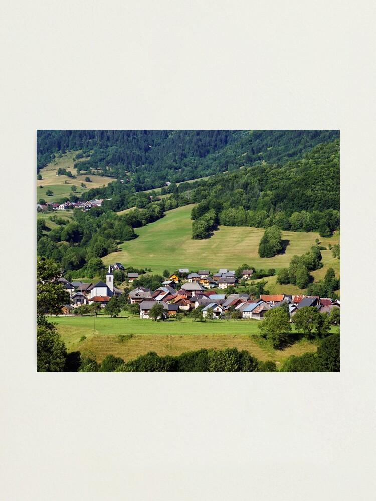 Alternate view of Compote en Bauges village Photographic Print