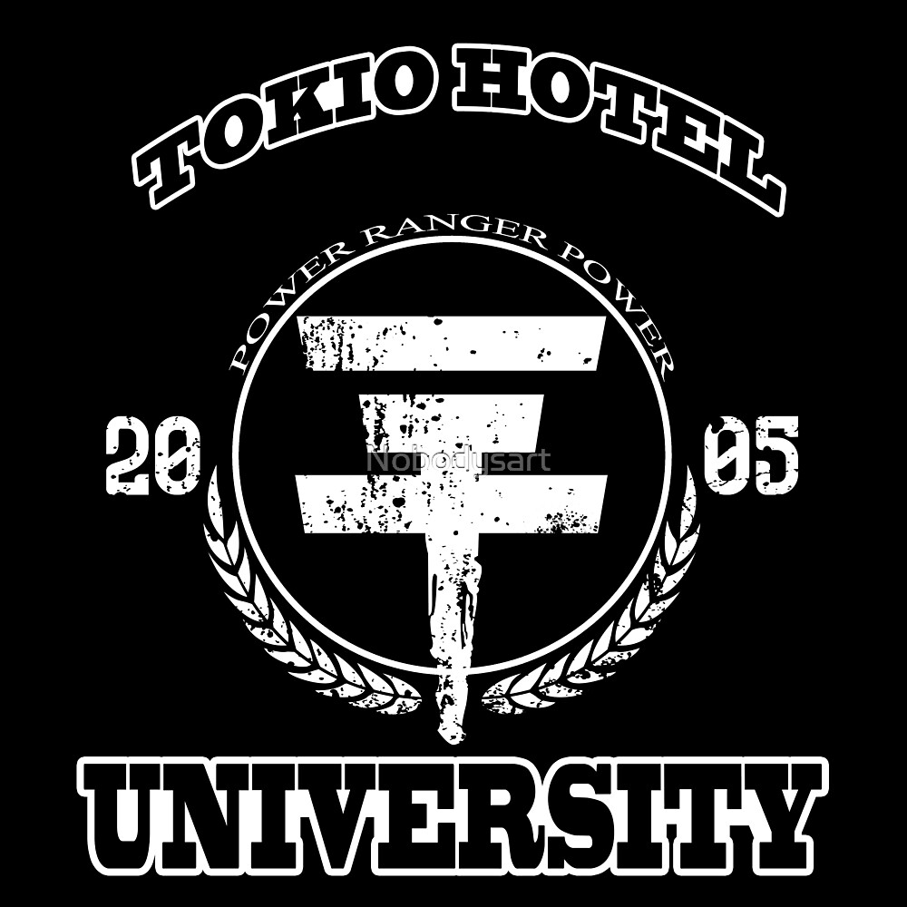 Tokio Hotel University   WHITE TEXT by Nobodysart