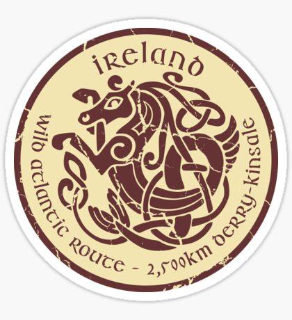 Wild Atlantic Route, Ireland - Celtic Sea Horse  T-Shirt & Sticker Design 3 Sticker