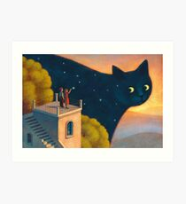 Eyes of the night Art Print