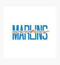 miami marlins team name font Photographic Print