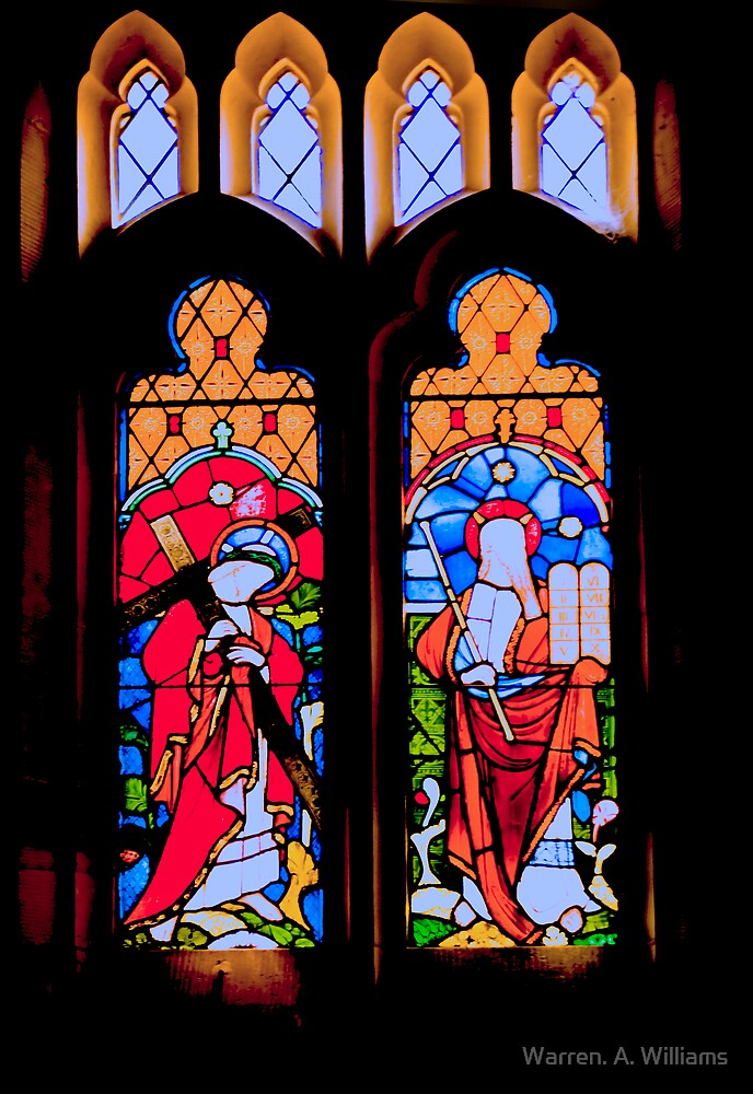 Church Windows 2 by Warren. A. Williams