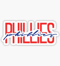 philadelphia phillies team name font Sticker