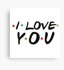 I Love You Logo - Funny Friends Logo Parody Sticker Shirt Pillow  Canvas Print