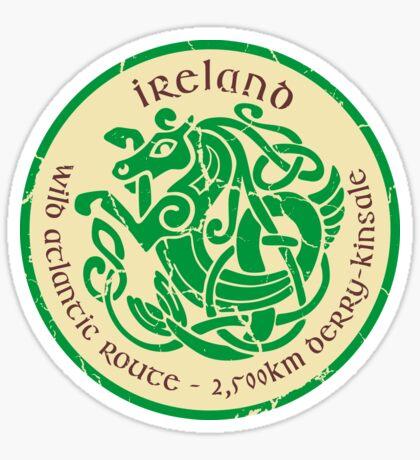 Wild Atlantic Route, Ireland - Celtic Sea Horse T-Shirt & Sticker Design 2 Sticker