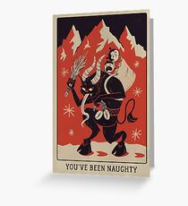 Krampusnacht 2017- Red & Black  Greeting Card