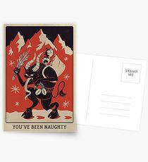 Krampusnacht 2017 - Rot & Schwarz Postkarten