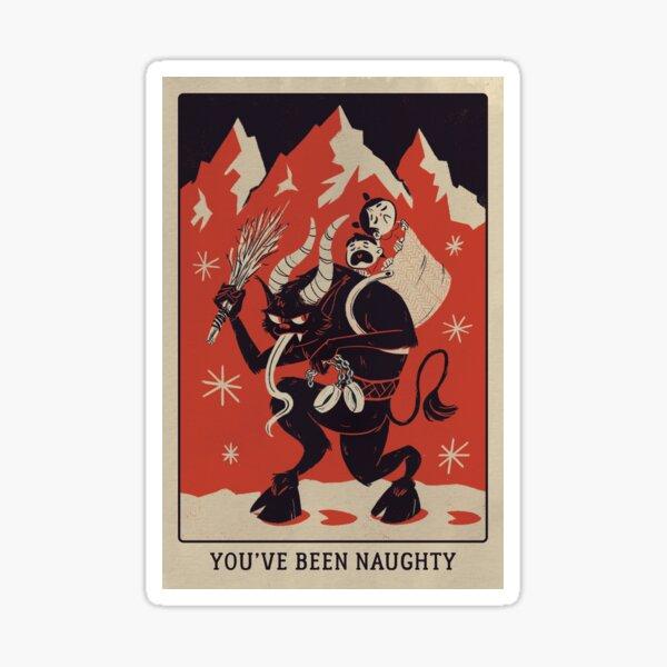 Krampusnacht 2017- Red & Black  Sticker