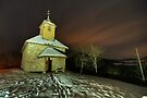Saint Jean chapel illuminated by night by Patrick Morand