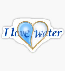 I LOVE WATER Sticker
