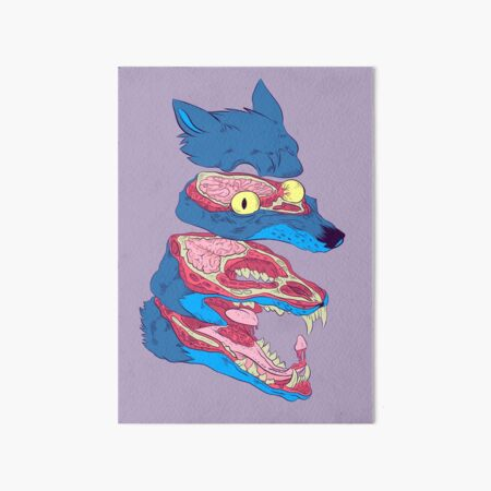 Dissected Wolf Art Board Print