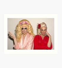 Trixie Mattel and Katya Art Print