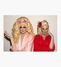 Trixie Mattel and Katya Photographic Print