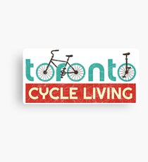 Toronto Cycling Life (vintage look) Canvas Print
