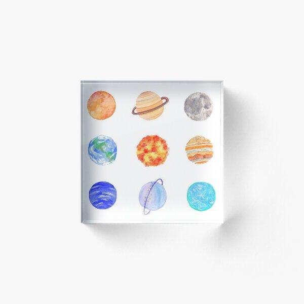Planets Acrylic Block