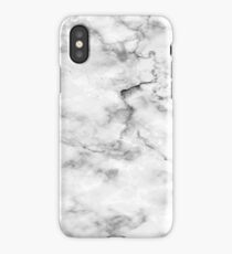 Black And White Marble Pattern - Cool Bright Granite Design iPhone Case/Skin