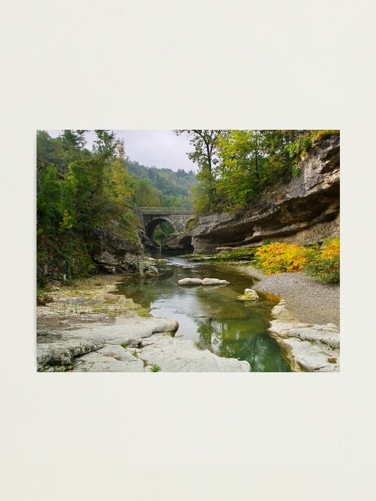 Alternate view of First autum colors along the Usses river Photographic Print