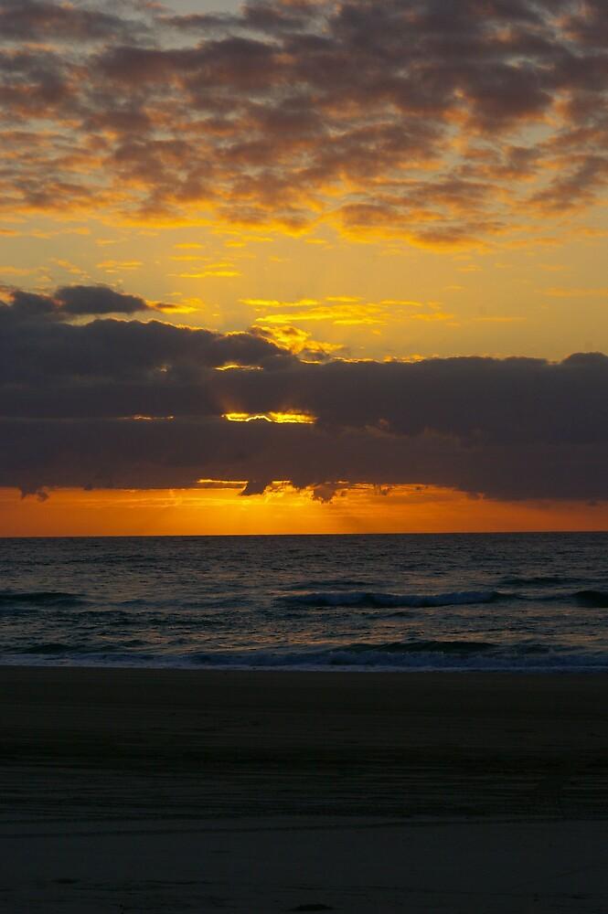 Ocean Sunrise by Cherie Carlson
