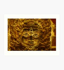 Burning Brightly....Temple Macro Art Print