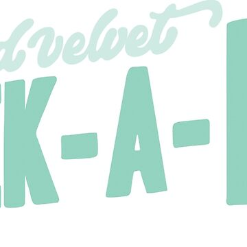 Red Velvet Peek-A-Boo Pastel Pink Logo by 58mm