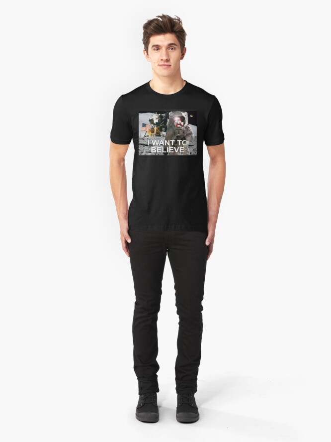 Alternate view of I Want To Believe Slim Fit T-Shirt