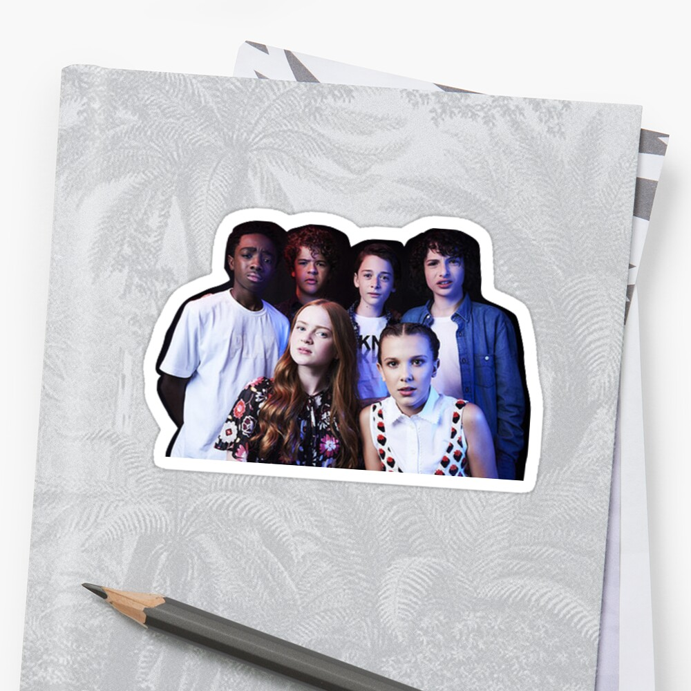 Quot Stranger Things Cast Quot Sticker By Jada07 Redbubble