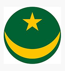 Roundel of the Mauritanian Air Force Photographic Print