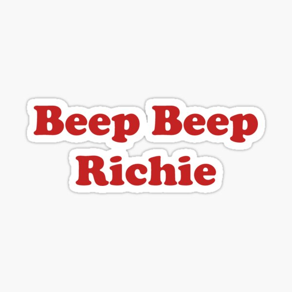 Beep Beep Richie Sticker